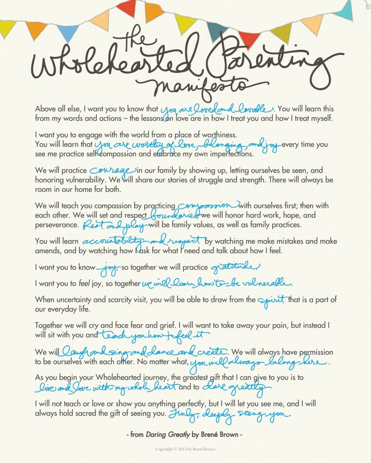 ParentingManifesto-brene brown